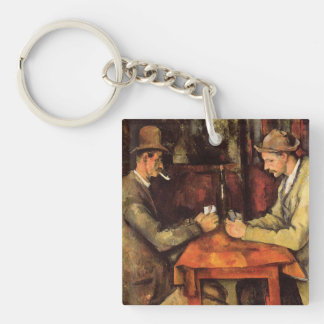 PAUL CEZANNE - The card players 1894 Keychain
