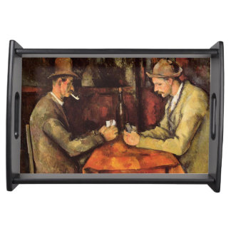PAUL CEZANNE - The card players 1894 Serving Tray