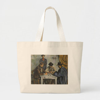 Paul Cézanne - The Card Players Large Tote Bag