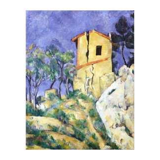 Paul Cezanne The House with the Cracked Walls Canvas Print