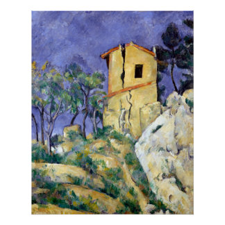 Paul Cezanne The House with the Cracked Walls Poster