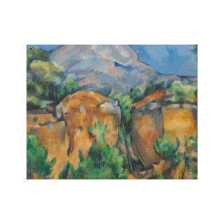 Paul Cezanne - The Mountain Sainte-Victoire Canvas Print
