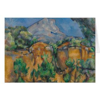 Paul Cezanne - The Mountain Sainte-Victoire Card
