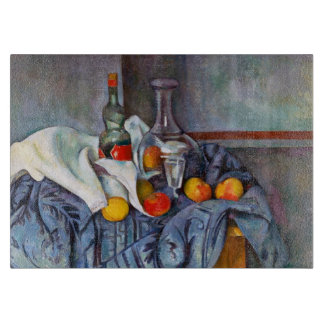 Paul Cézanne The Peppermint Bottle still life art Cutting Board
