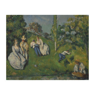 Paul Cezanne - The Pond Wood Print
