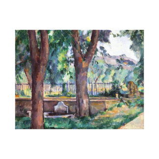 Paul Cezanne The Pool at the Jas de Bouffan Canvas Print
