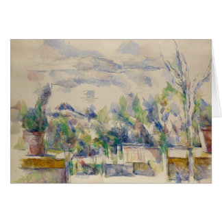 Paul Cezanne - The Terrace at the Garden Card