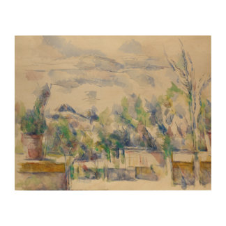Paul Cezanne - The Terrace at the Garden Wood Prints