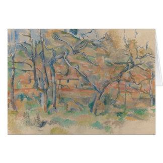 Paul Cezanne - Trær og hus, Provence Card
