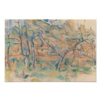Paul Cezanne - Trær og hus, Provence Photo Art
