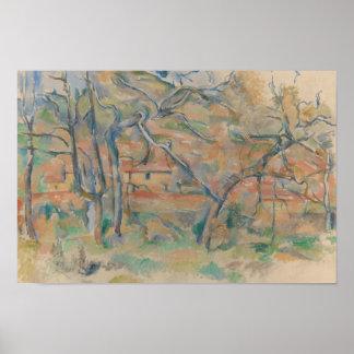 Paul Cezanne - Trær og hus, Provence Poster
