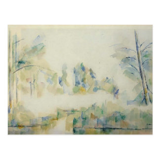 Paul Cezanne- Trees by the Water Postcard