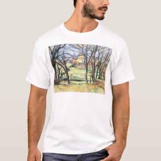 Paul Cezanne Trees Houses Near the Jas de Bouffan T-Shirt