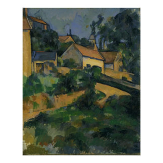 Paul Cézanne - Turning Road at Montgeroult Posters