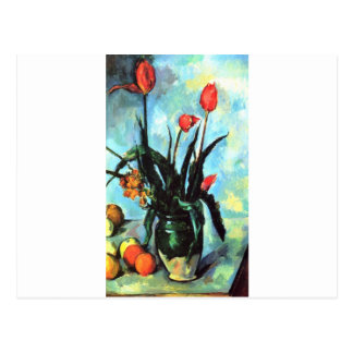 Paul Cezanne - Vase of Tulips Postcard