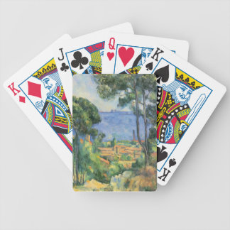 Paul Cezanne - View of L'Estaque and Chateaux d'If Bicycle Playing Cards