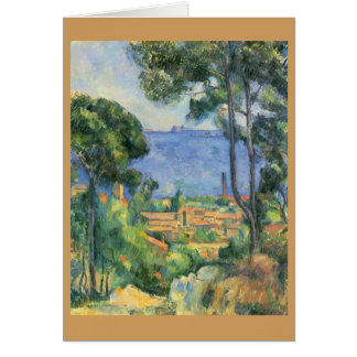 Paul Cezanne - View of L'Estaque and Chateaux d'If Card