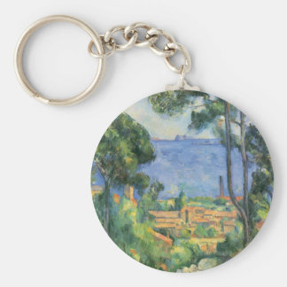 Paul Cezanne - View of L'Estaque and Chateaux d'If Keychain