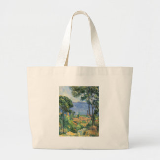Paul Cezanne - View of L'Estaque and Chateaux d'If Large Tote Bag