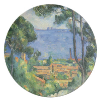 Paul Cezanne - View of L'Estaque and Chateaux d'If Plate