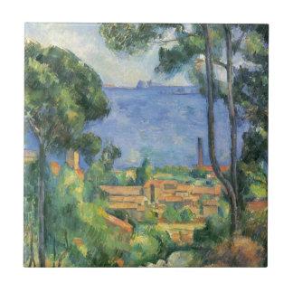 Paul Cezanne - View of L'Estaque and Chateaux d'If Tile