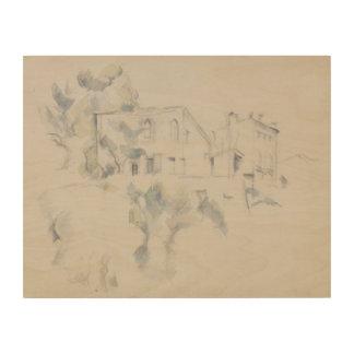 Paul Cezanne - View of the Chateau Noir Wood Canvas