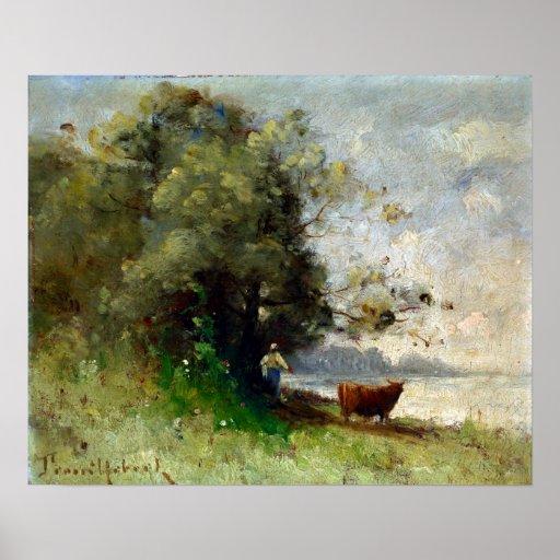 Paul-Désiré Trouillebert By the Lake Poster