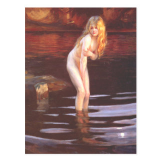Paul Émile Chabas - Baigneuse (Bather) Postcard