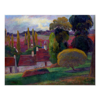 Paul Gauguin A Farm in Brittany Poster