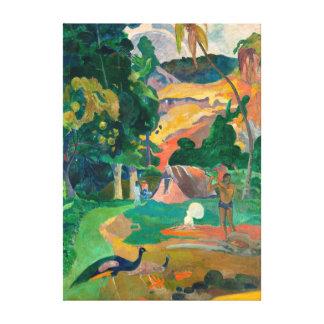 Paul Gauguin Matamoe, Landscape with Peacocks Canvas Print