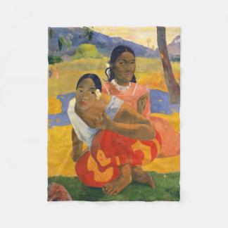 PAUL GAUGUIN - Nafea faa ipoipo 1892 Fleece Blanket
