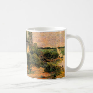 Paul Gauguin painting Washerwomen at Pont-Aven art Classic White Coffee Mug