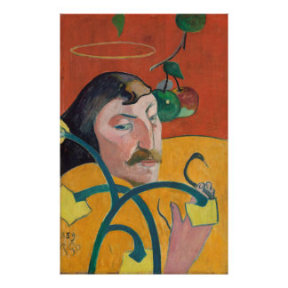 Paul Gauguin: Self Portrait, 1889 Painting Poster