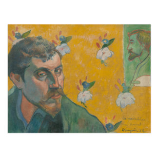 Paul Gauguin - Self-portrait with portrait Postcard