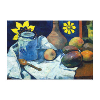 Paul Gauguin Still Life with Teapot and Fruit Canvas Print