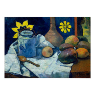 Paul Gauguin Still Life with Teapot and Fruit Poster