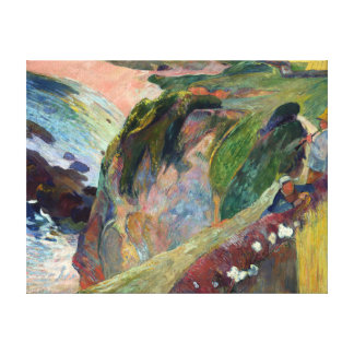 Paul Gauguin The Flageolet Player on the Cliff Canvas Print