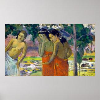 Paul Gauguin Three Tahitian Women Poster