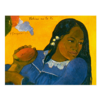 Paul Gauguin's Woman with a Mango (1892) Postcard
