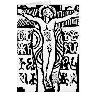 Paul Gauguin's Woodcut of Crucifix Card