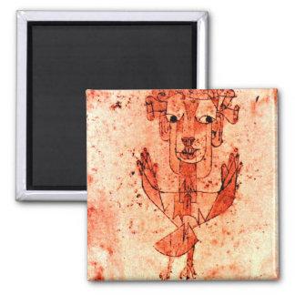 Paul Klee art: Angelus Novus (New Angel) Square Magnet