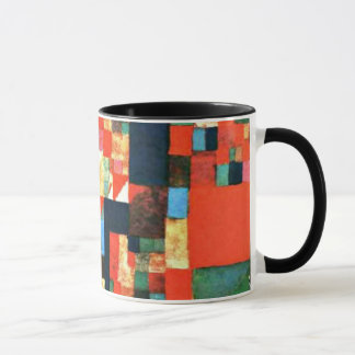 Paul Klee art - City Picture with Red and Green Mug