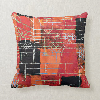 Paul Klee art: Configuration Perspective Throw Pillow