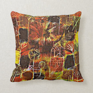 Paul Klee art: Cosmic Composition Throw Pillow