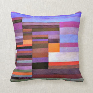 Paul Klee art: Fire Evening Throw Pillow