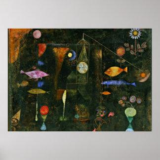 Paul Klee art: Fish Magic, famous Klee painting Poster