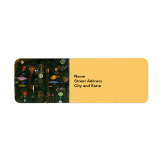 Paul Klee art: Fish Magic, famous Klee painting Return Address Label