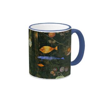 Paul Klee art: Fish Magic, famous Klee painting Ringer Coffee Mug