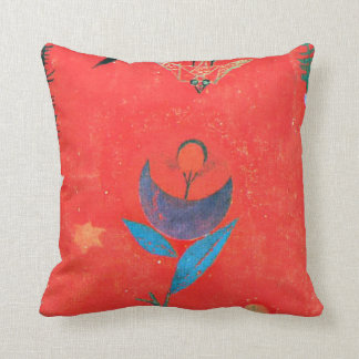 Paul Klee art - Flower Myth, famous Klee painting Throw Pillow