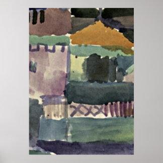 Paul Klee art: In the Houses of St. Germain Poster